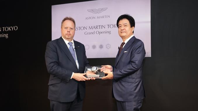 Andy Palmer President CEO Aston Martin Mr Shigeto Kasai SKY GROUP CEO - Aston Martin Tokyo