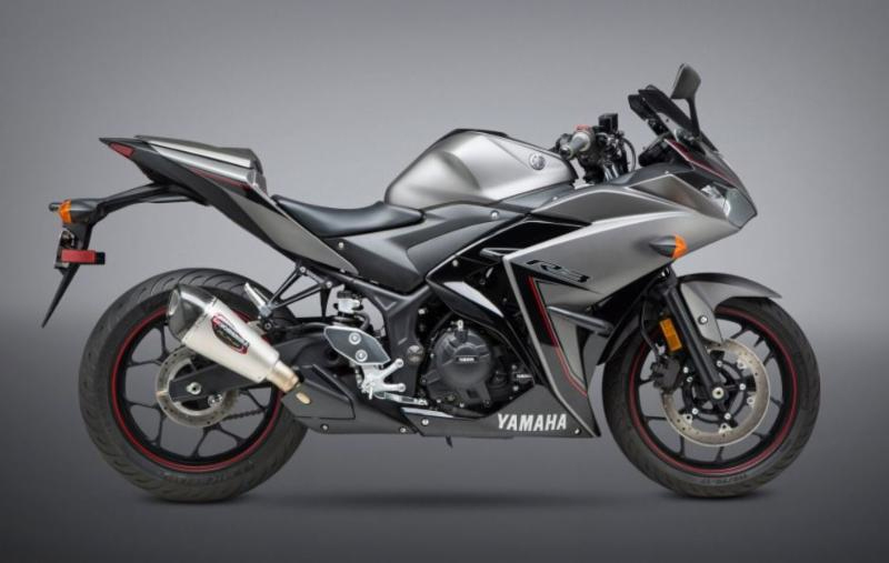 2017 Yamaha YZF-R3 with Street Series Alpha T Works Finish slip-on