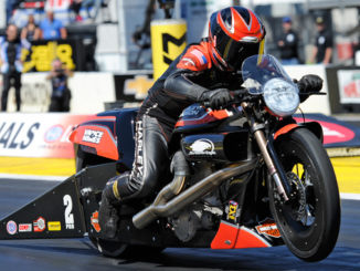 NHRA Pro Stock Motorcycle Ed Krawiec action