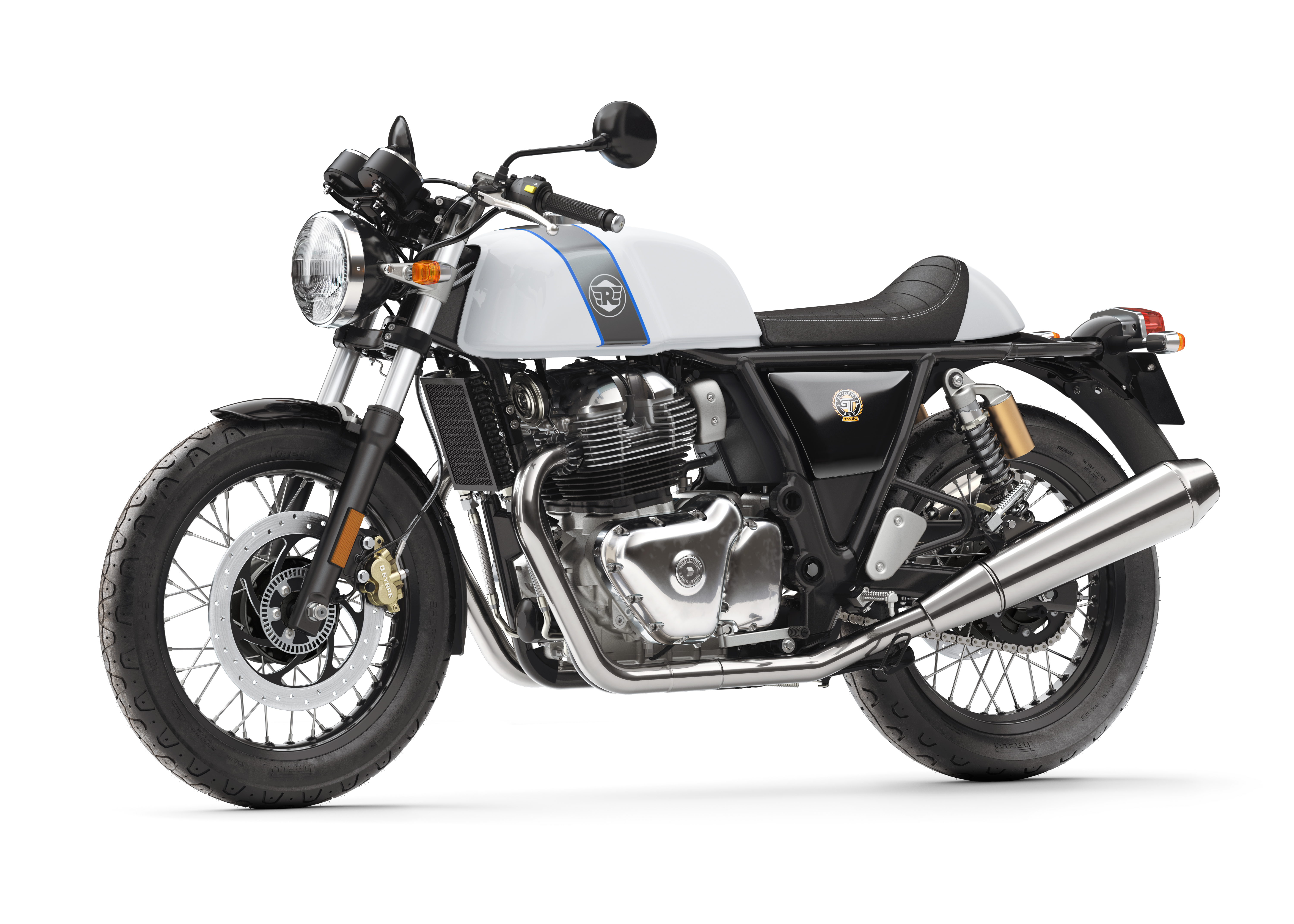 Pirelli: Royal Enfield Continental GT - Ice Queen Front 3-4