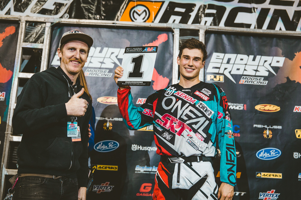 Trystan Hart was disappointed with his Ontario finish but had a great season and earned the Junior EnduroCross championship and second overall in the points. Photography: Tanner Yeager