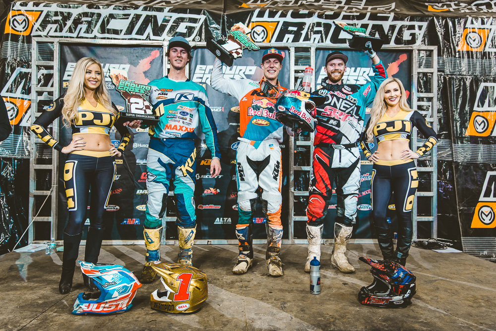 Endurocross Webb (center), Tremaine (left) and Graffunder took the Ontario Podium. Photography: Tanner Yeager