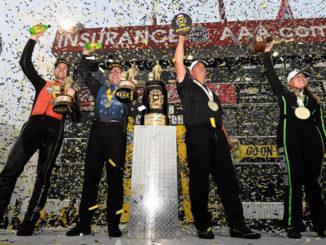 2017 NHRA Auto Club Final podium