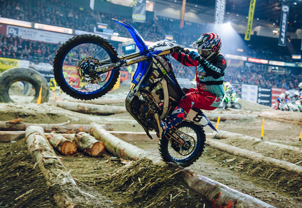 EnduroCross includes all of the toughest off-road riding obstacles in a single lap.