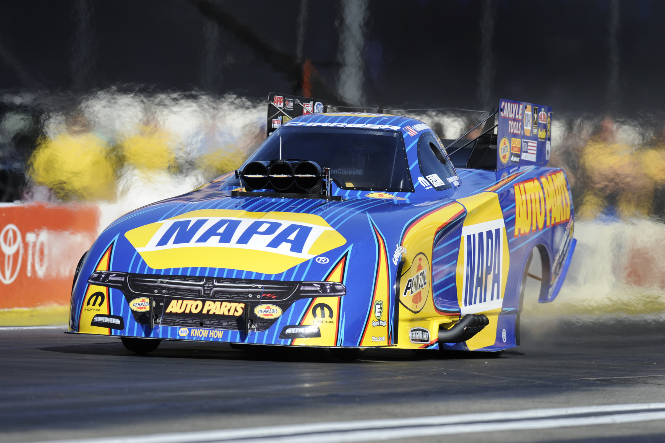 NHRA Funny Car Ron Capps action