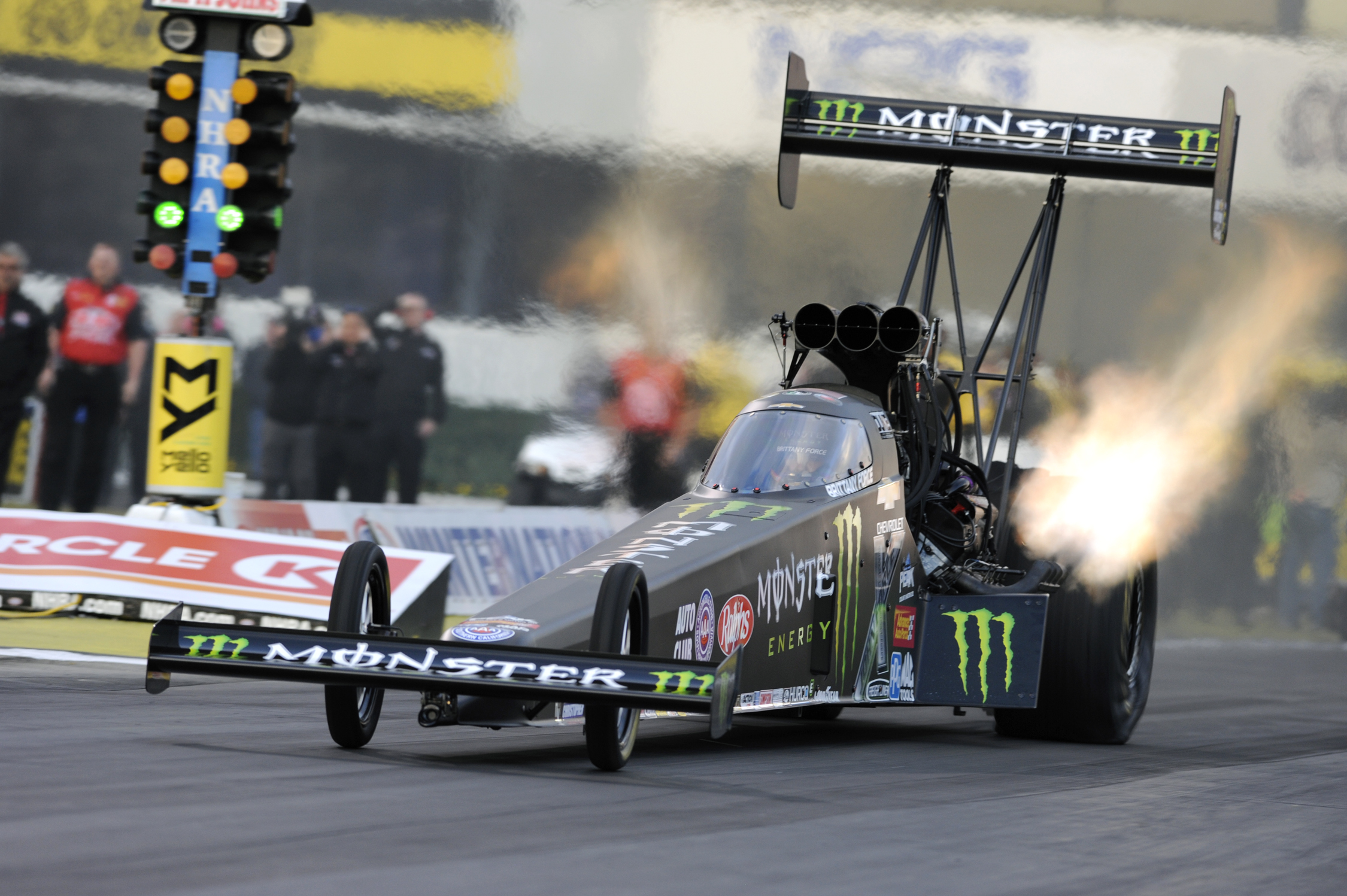 NHRA Top Fuel Brittany Force action