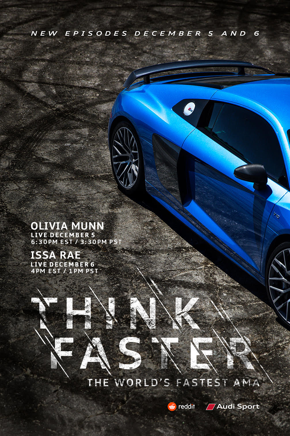 Audi teams up with Reddit for the second installment of the world fastest livestream AMA series - Think Faster