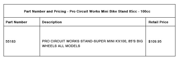 Pro Circuit Part Number Pricing R 1