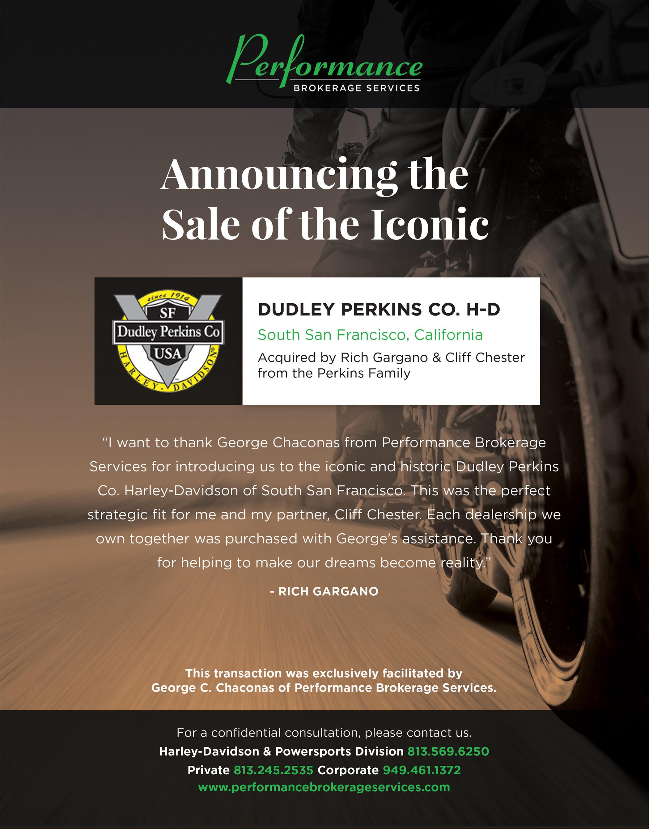 Dudley Perkins Co. Harley-Davidson