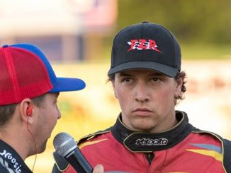 Max Stambaugh [right] speaking with Blake Anderson during a prior All Star start - Vince Vellella Photo Credit