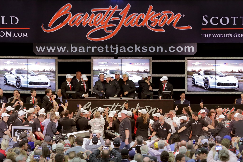 Former U.S. President George W. Bush and Barrett-Jackson CEO Craig Jackson