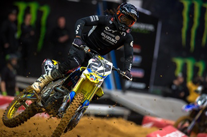 Autotrader/Yoshimura/Suzuki Factory Racing Team backing Malcolm Stewart for Glendale Supercross