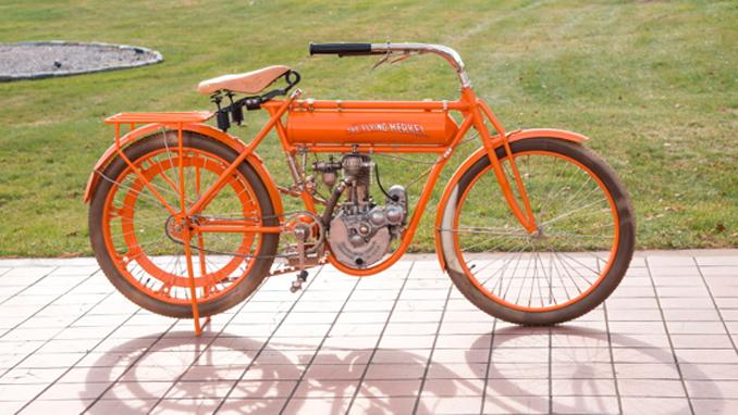 Las Vegas Vintage Motorcycle Auction - 1911 Flying Merkel Single 4 HP (Lot F164) Mecum