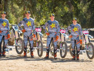 2018 Rockstar Energy Husqvarna Factory Racing Offroad team, Colton Haaker, Dalton Shirey, Josh Strang, and Thad Duvall. Photo by S. Cudby