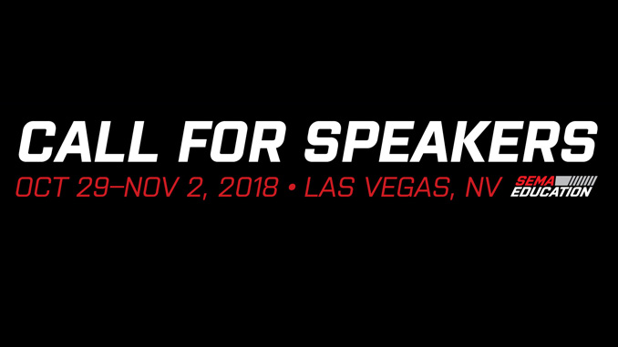 2018 Education SEMA show Speakers
