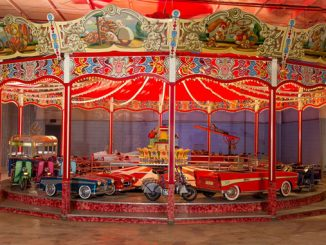A stunning full-size 1957 carousel (Lot #9499) is one of highlight pieces of automobilia set to cross the block at the 2018 Barrett-Jackson Scottsdale Auction.