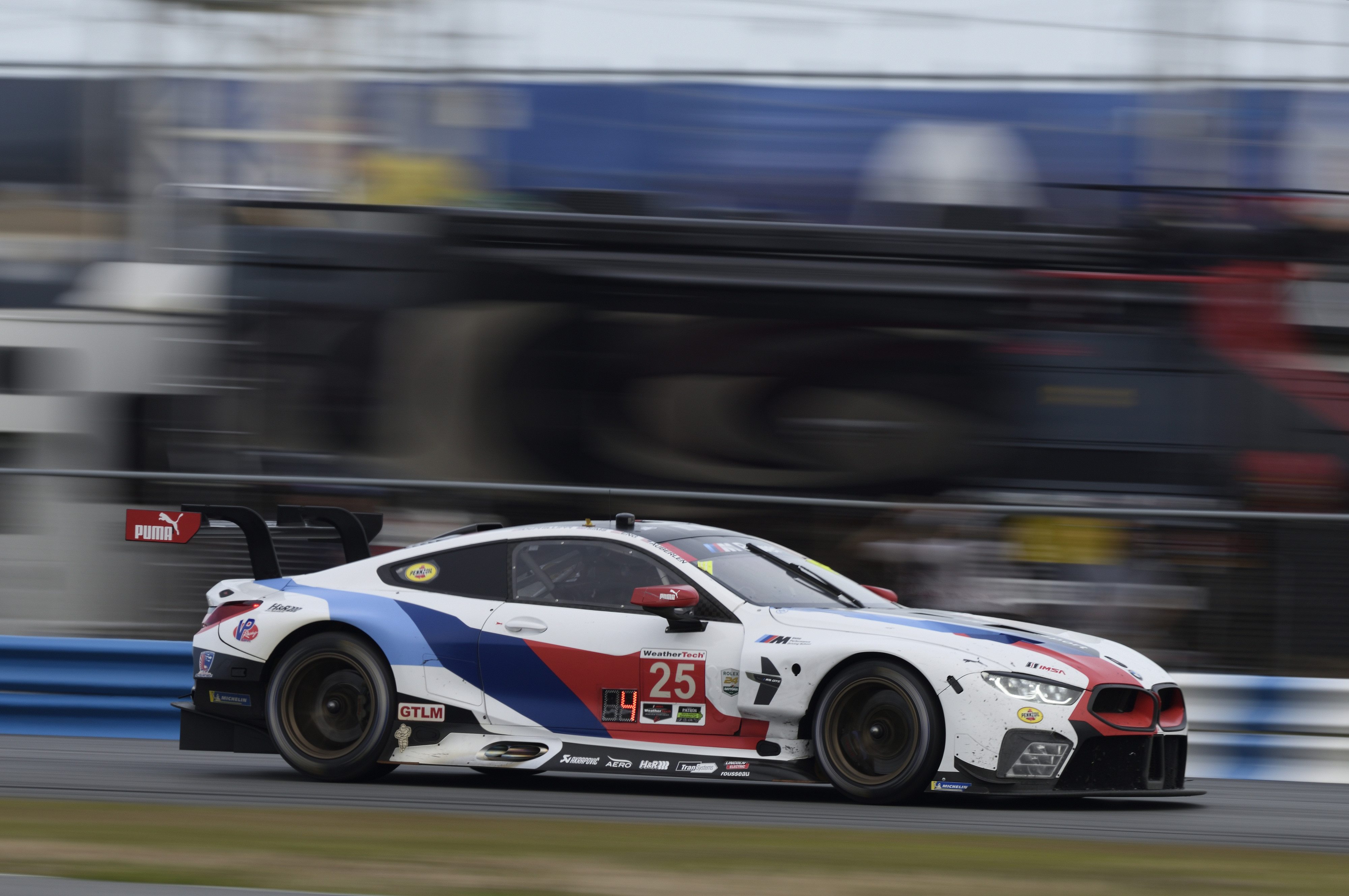 bmw m8 gte masters debut race in daytona motor sports newswire. Black Bedroom Furniture Sets. Home Design Ideas