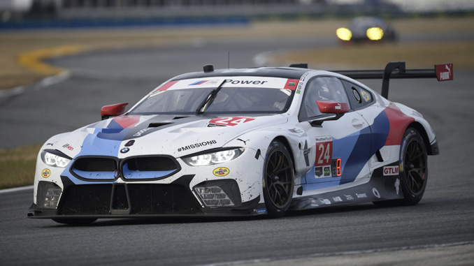 BMW M8 GTE masters debut race in Daytona