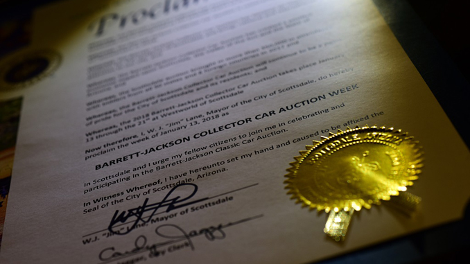 Barrett-Jackson Proclamation