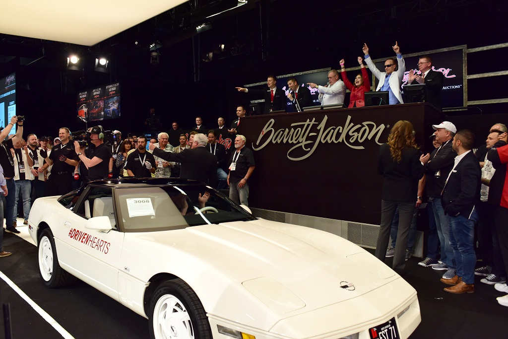 Carolyn and Craig Jackson's 1988 Chevrolet Corvette 35th Anniversary (Lot #3008) sold for $350,000 to benefit the American Heart Association.