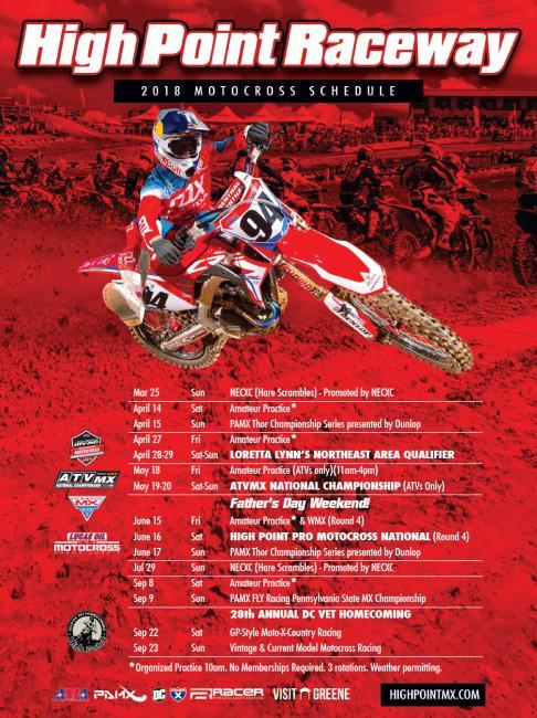 High Point Raceway schedule