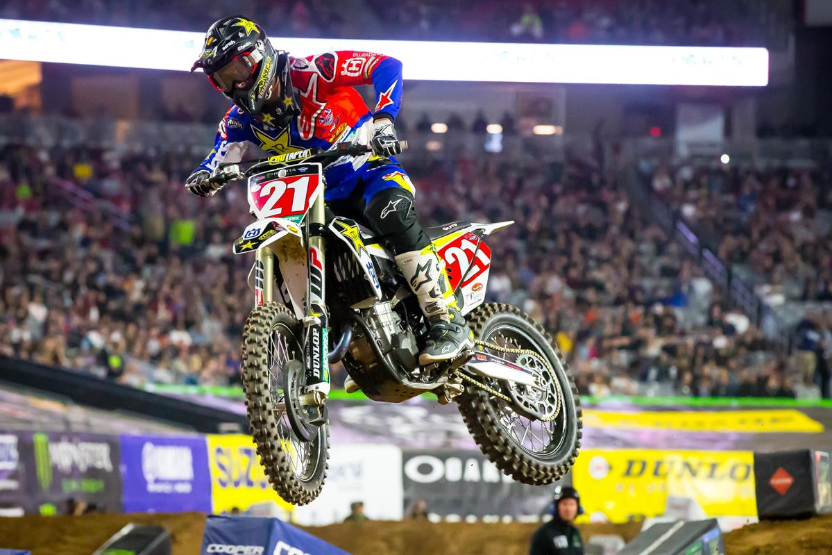 Husqvarna Factory Racing - Jason Anderson battled to a 4th place finish at Glendale SX! (Photo_ Simon Cudby)