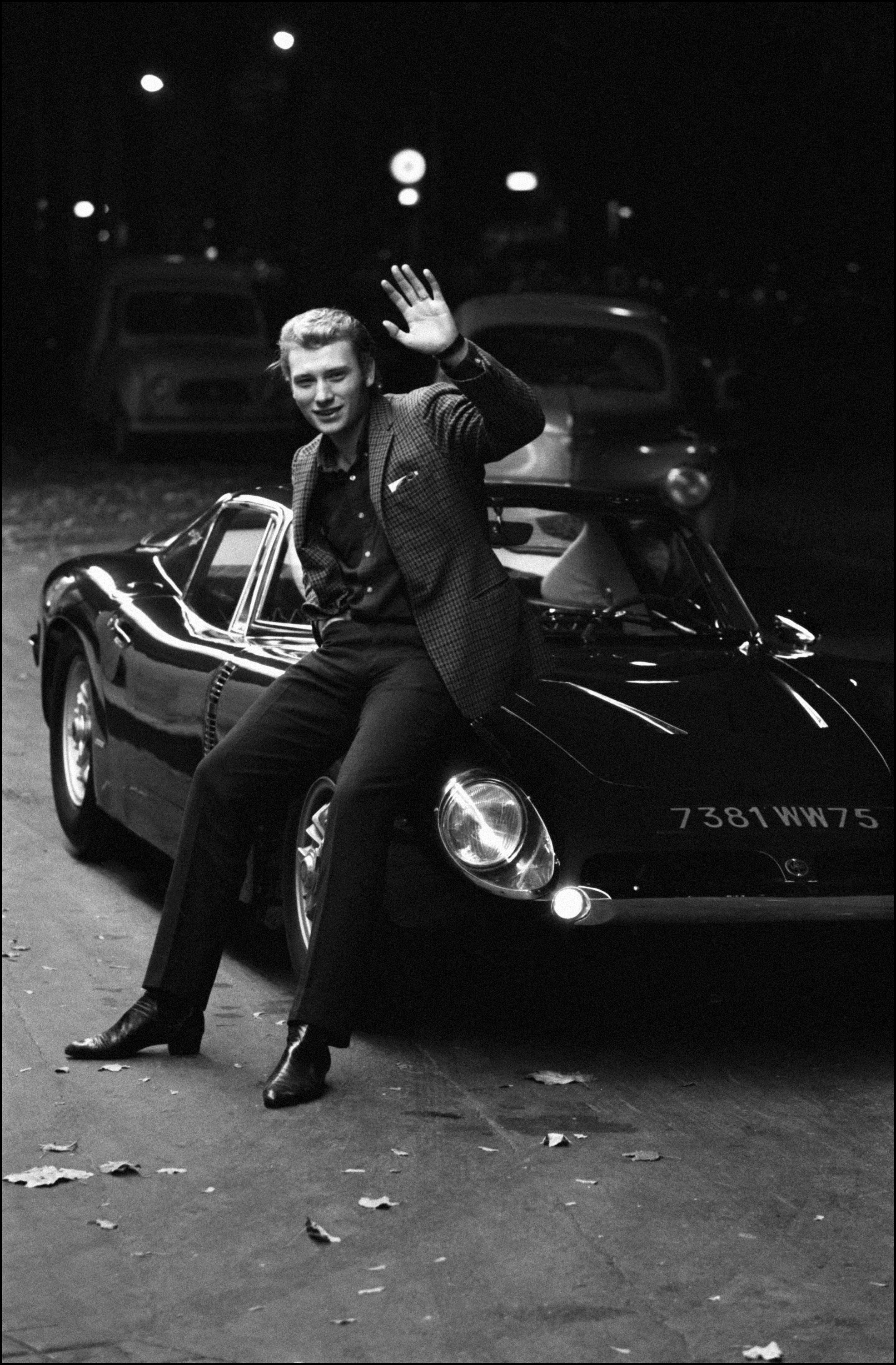 Johnny Hallyday and his Iso Grifo A3/C in France in October of 1965 (Credit – Courtesy of Getty Images)