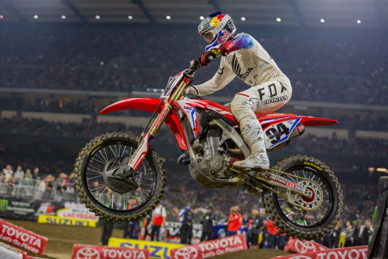 Monster Energy Supercross: Ken Roczen made his highly-anticipated return in Anaheim. Photo credit: Feld Entertainment, Inc.