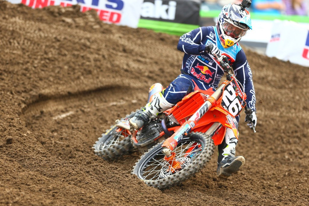 Like his teammate, Martin was able to showcase the speed of the KTM 250SX-F