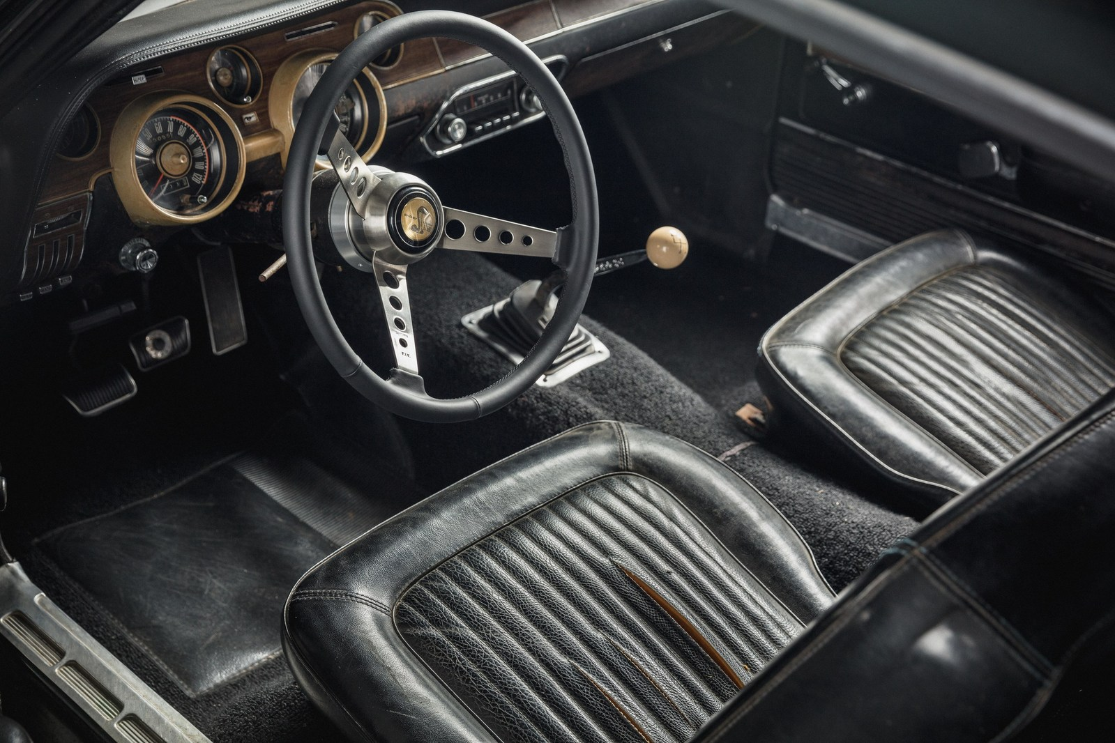 Original 1968 Mustang '559's interior. Courtesy of HVA, Casey Maxon