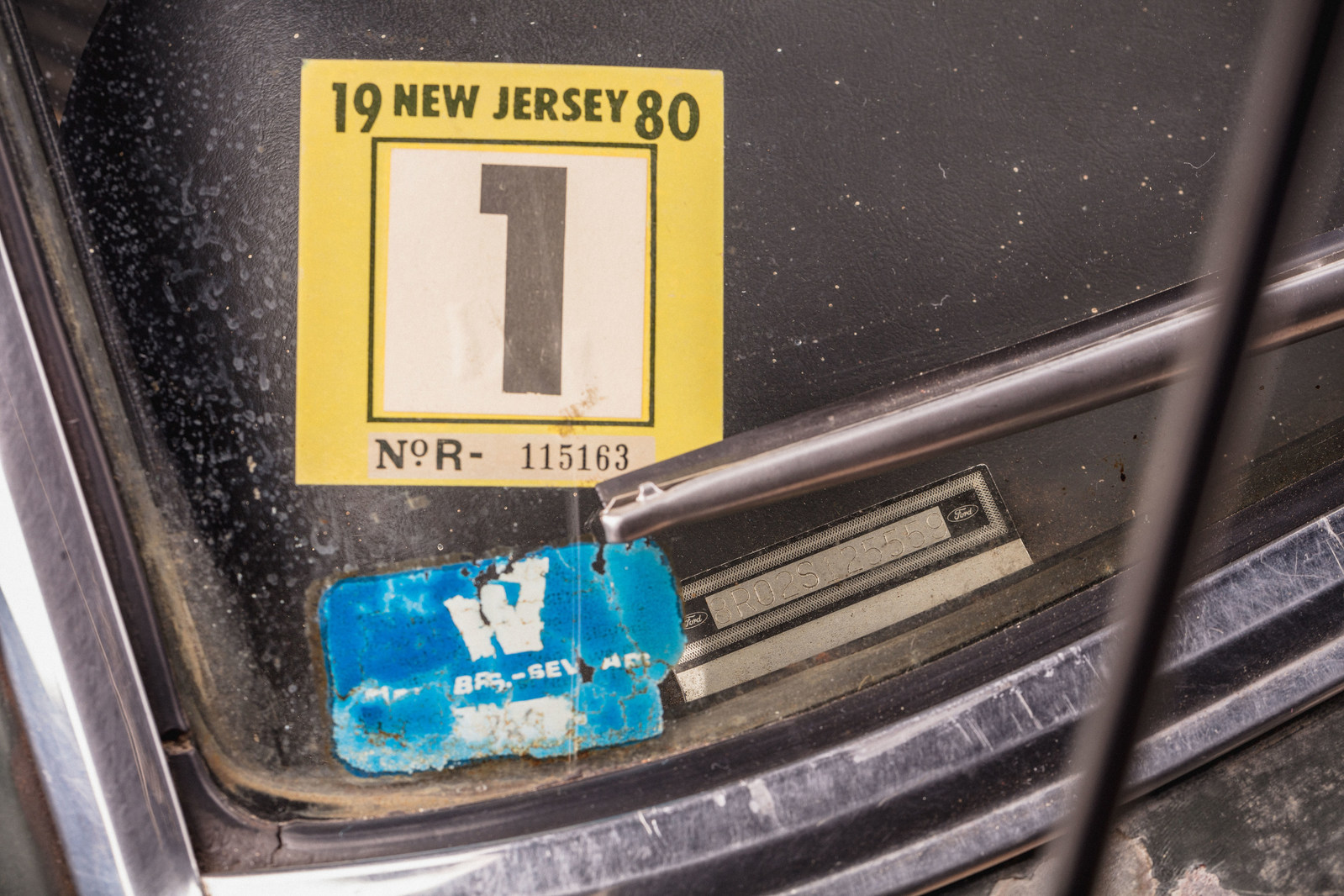 Original Warner Brothers lot sticker on 1968 Mustang '559 used in movie Bullitt