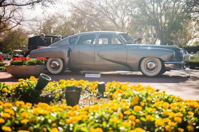 Preston Tucker's 1948 Tucker 48 enjoys the Phoenix sun during RM Sotheby's Arizona preview before selling for an above-estimate $1,792,500