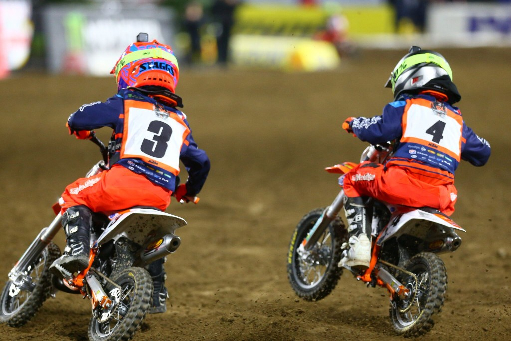 In Troy Lee Designs Gear - The KTM Junior Supercross Challenge put on a show for fans