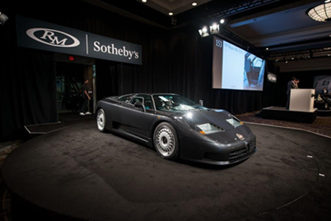 The single-owner 1993 Bugatti EB110 GT sold for a world-record $967,500 on night two of RM Sotheby's 2018 Arizona sale