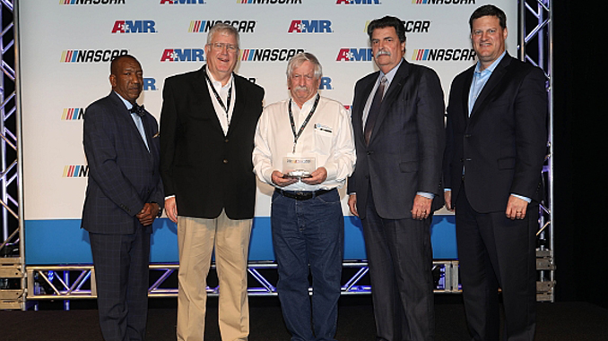 Tim Arfons of the Akron Turbine Group receives NASCAR Track Services Mission Award