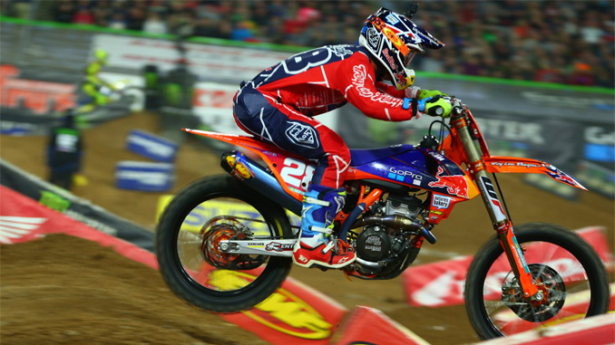 Troy Lee Designs/Red Bull/KTM's Shane McElrath Puts in Solid Effort to Earn Runner-Up Finish in Glendale