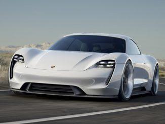 e-mobility - Porsche Mission E sports car