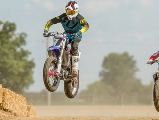 AMA Flat Track Grand Championship - Josh Rud action shot from the 2017 competition
