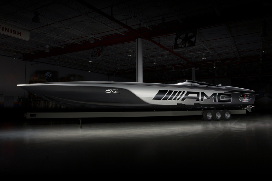 Mercedes-AMG and Cigarette Racing establish new performance benchmarks on the water with the Cigarette Racing 515 Project ONE