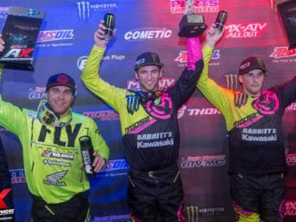 AMSOIL Arenacross podium after a perfect night in Florence, South Carolina on February 17