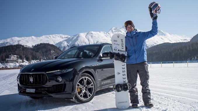 Jamie Barrow and Maserati Levante World Speed Record in St. Moritz, Feb.19 2018