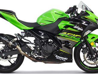 Two Brothers Racing S1R Slip-On Exhaust System for the 2018 Kawasaki Ninja 400