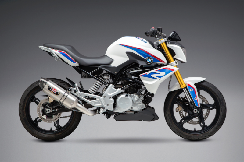 2018 BMW G 310 R with Yoshimura R-77 Race Series - Works Finish stainless full system