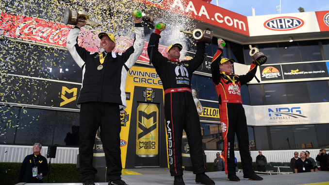 2018 NHRA Winternationals Winners Circle