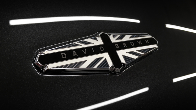 David Brown Automotive - The enamelled and plated exclusive monochrome badging hints at a more aggressive design language