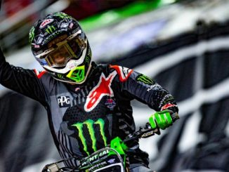 Monster Energy Supercross - Eli Tomac scored his third 450SX Class win of the 2018 season after a perfect night in Arlington. Photo credit: Feld Entertainment, Inc.