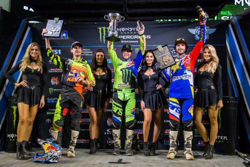 Monster Energy Supercross Tampa 450 podium