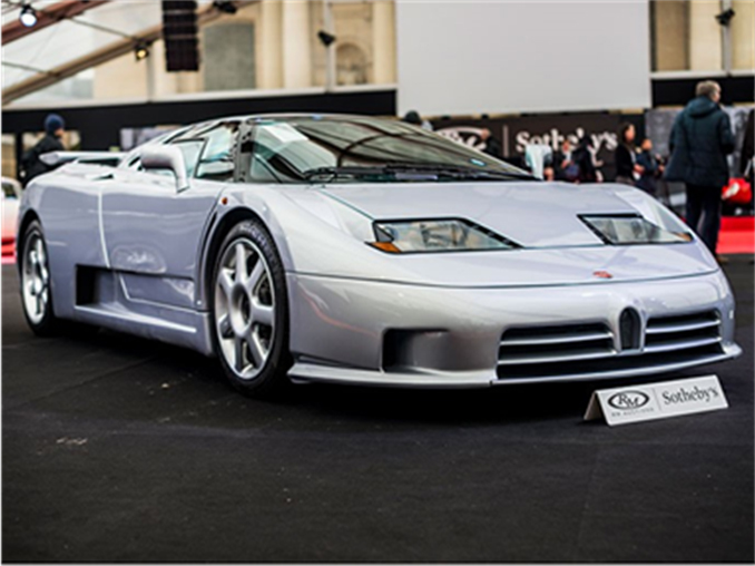 The 1993 Bugatti EB110 SS Prototype sold for a world record €1,152,500 at RM Sotheby's Paris sale