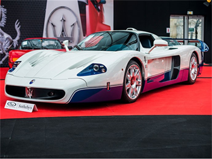 The 2005 Maserati MC12 which led a no-reserve private collection and garnered a final €2,001,875 at RM Sotheby's Paris sale