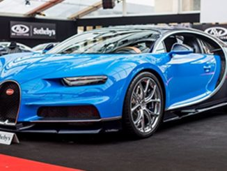 The record-setting 2017 Bugatti Chiron sold for €3,323,750 at RM Sotheby's Paris sale;